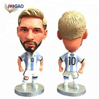 China OEM handicraft products resin custom bobble head figurines gifts & crafts world cup soccer dashboard Messi bobble head