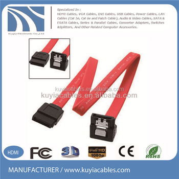 SATA Cable SATA 90 degree right angle to 180 degree 7pin