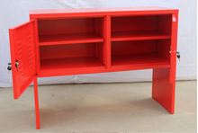 See larger image 0.7mm 2 Door Red Ikea PS Metal Cabinet With Legs / Antique Red Steel Hanging TV Cabinet for Korea