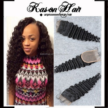 Beauty Salon Equipment Pictures Top Peruvian Remy Hair Closure Deep Wave Free Part #1B Color