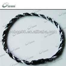 2012 sports triple ropes 3 ropes titanium necklace