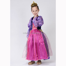 MAC-61- Party carnival purple kids Princess costume dress for children