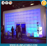 Outdoor event big inflatable tent large custom inflatable led cube party tent
