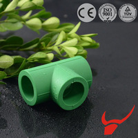 Drain Water and Floor Heating OEM pipe joint tee of ppr pipe fittings with German Standard