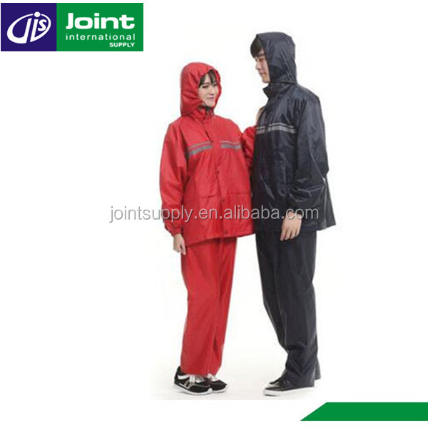 Motorbike Motorcycle Rubber Raincoat Rain Coat Rain Suit for Men / Women