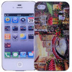 Protective Back Case with Beautiful Waterside Town Oil Painting for iPhone 4/4S