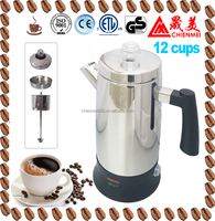 Classic stainless steel automatic electrical coffee maker