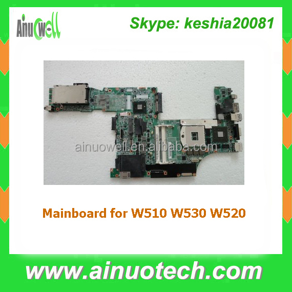Notebook system board laptop motherboard for lenovo W530 W520 W510 mainboard replacement