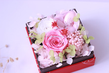 Customized preserved flower box rose box for wedding gift