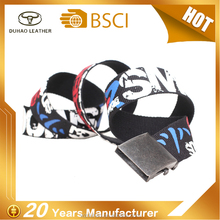 Wholesale Custom Canvas Silk Printed Fabric Belt Web Belts For Man