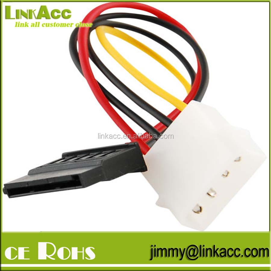 LinkYH-8 IDE/Molex/IP4/4-pin to SATA Power 15-pin Connector Converter Adapter Cable Goody
