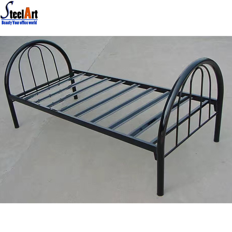 Modern twin bed adult metal single bed