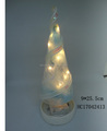 2017 Newest Glass Led Christmas Tree with LED Light for Holiday Decoration