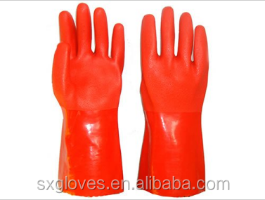 CAT3 Chemical resistance PVC gloves,35cm,resistant chemical,oil,acid,alkali,logo can customized.