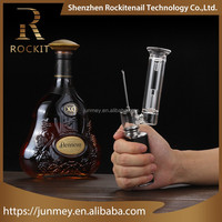 Rockit herb vaporizer portable dry wax dab pipe with ceramic coilless atomizer