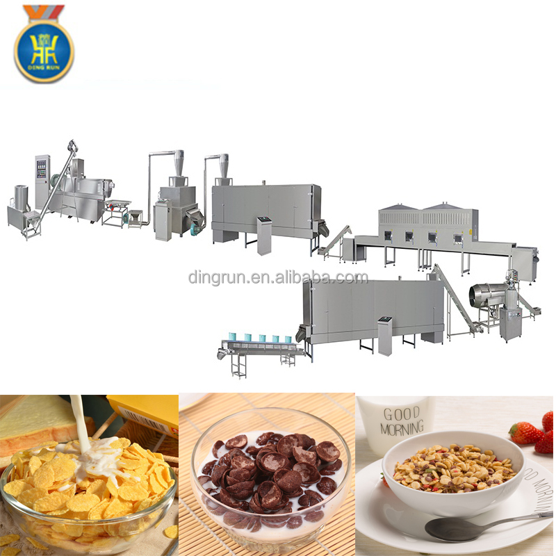 Cereal bar corn flakes candy extrusion machine line