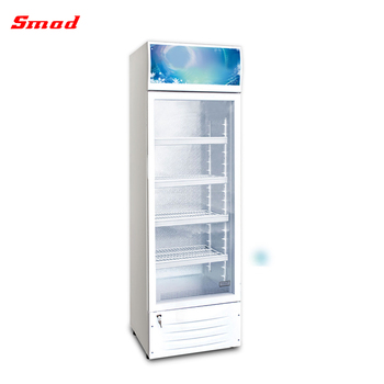 Supermarket Single Glass Door Display Upright Showcase