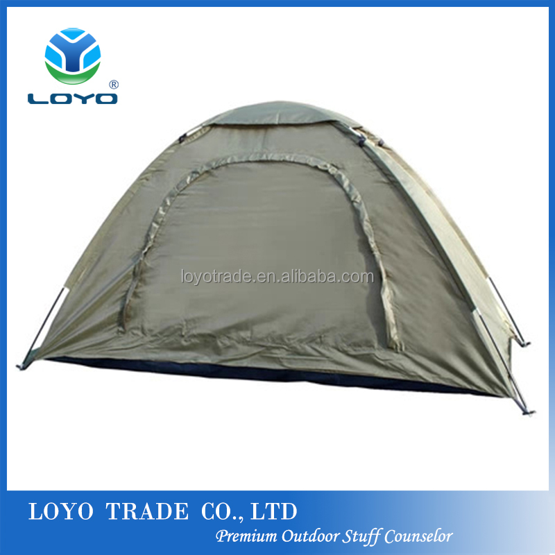 cheap camping tent one person ultra light olive waterproof outdoor hiking tent
