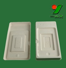 Sustainable Industrial Molded Bamboo Pulp Embossed Inner Package Mold Tray
