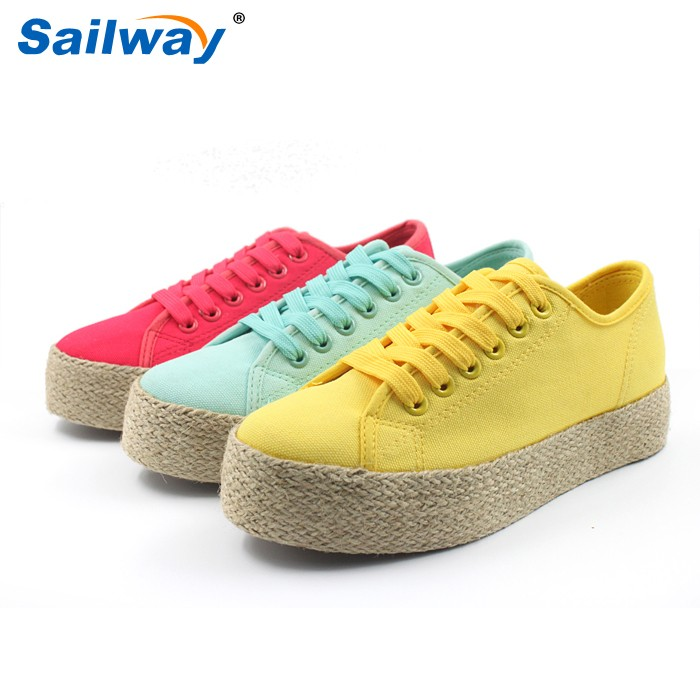 rope sole women canvas shoes