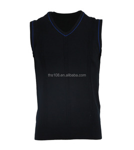 MEN'S KNITTED CLASS V NECK STRIPE VEST
