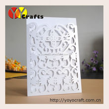 hot sale new products 2017 laser cut pocket wedding invitation