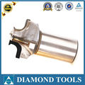 carbide shank pcd end milling tools with three flutes pcd cutting tools diamond cutter