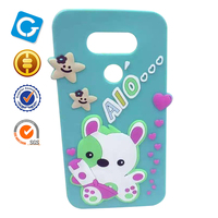 Hot selling professional Silicone softenvironmental cute cartoon cover for samsung galaxy s7