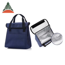 High Qulaity 600d Polyester Foldable Aluminum Foil Insulated Lunch Bag For Office