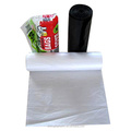cheap PE star-sealed garbage bags on roll with factory price