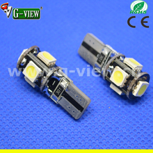 error free car accessory 12V 5SMD 5050 chips canbus car bulbs t10 led lights for car
