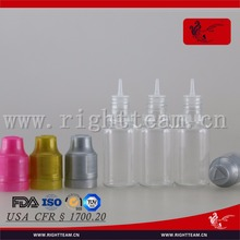 TDP colored e smoking oil bottle for e vape oil 10 ml dropper bottle