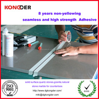 kitchen tops solid surface adhesive artificial quartz glue corian joint adhesive