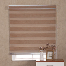 Customized Blackout Rolling Curtain Zebra Rainbow Dual Blinds