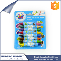 2016 good quality new 8pk double ended crayon