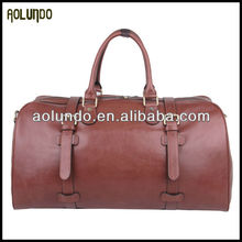 Classical design vegetable tanned leather travel bag