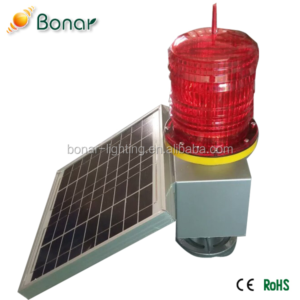 High Effeciency Super Bright Waterproof Powerful Solar Powered Aviation Obstruction Light