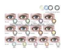 Unique design best color color cosmetic contact lens