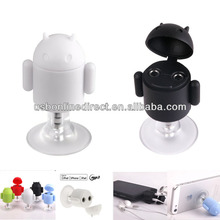 3.5mm Earphone Headphone Splitter holder for iPhone 5 with suction cup Black/white