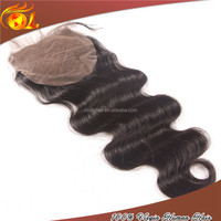 Wholesale Price 22'' Natural Color Body Wave Malaysian Virgin Hair Silk Base Closures For Black Women