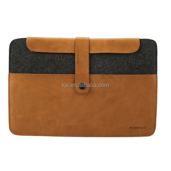 13 Inch Leather Felt Laptop Case with High Quality
