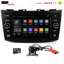 android 7.1 2 din car dvd gps for suzuki swift android touch screen car stereo built-in 3/4G wifi dab+