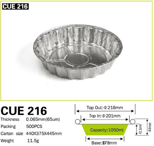 CAKE PIE PAN Aluminum Tray And Container