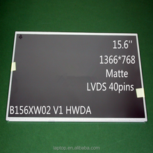 New 15.6'' Thickness B156XW02 V2 HWDA LCD Monitors For Laptop 1366*768 LVDS 40Pins B156XW02 V2 HWDA LCD Screen Display Panel