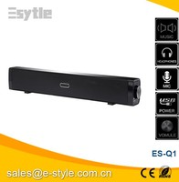 "2016 New 18"" sound bar speaker 2.0 Channel short TV Soundbar, mini bar for sale for mini PC and IPad"
