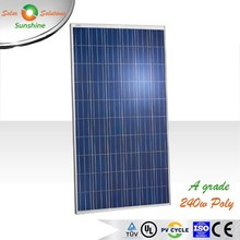 Sunshine 240w Poly A Grade Quality Solar Panel +3% Power Tolerence for On-grid/Grid-tied Roof-top/Solar Plant/Station