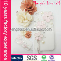 hot selling alloy flower crystal case for Iphone 4/4s/5