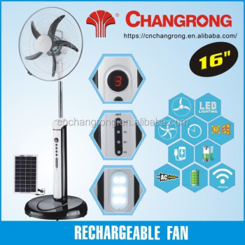 16inch 12V battery rechargeable stand fan pedestal fan with remote
