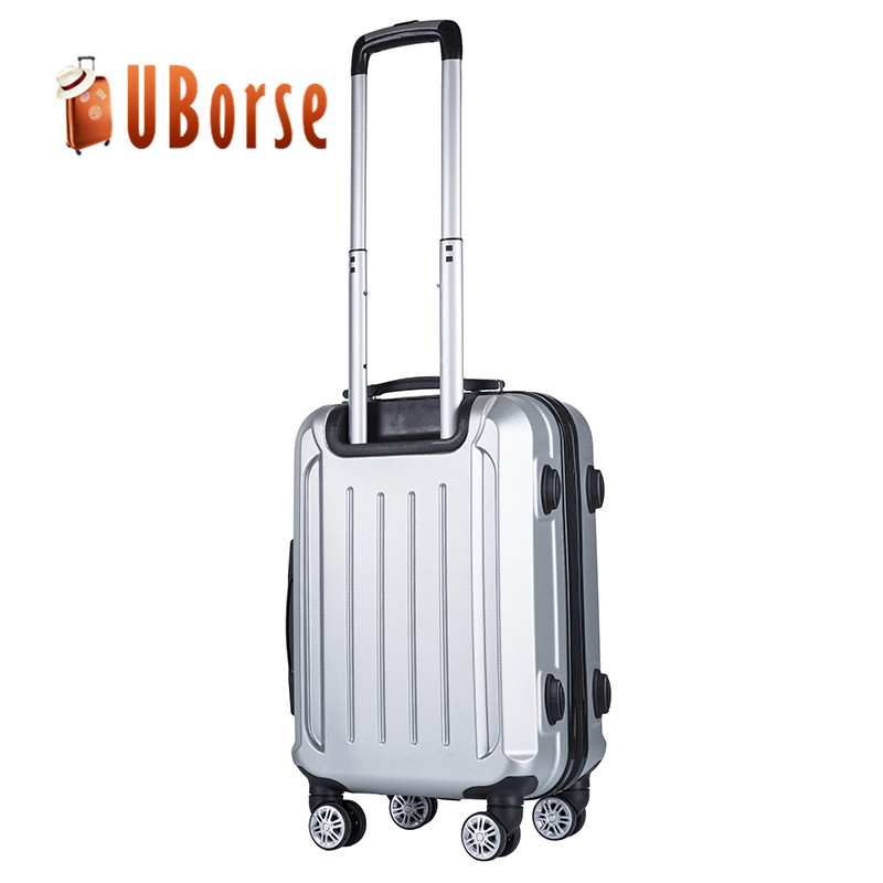 3pcs set hard shell luggage, double zipper ABS trolley suitcase, travel bag and luggage set