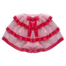 Best Quality Children Clothing Hot Sale Confortable Lace Bowknot Wearing Mini Three Ladder Style Cute Young Girl Skirt 5685